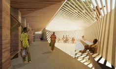 A school project in the village of Gando, Burkina Faso. Designer Diébédo Francis Kéré of Kéré Architecture in Berlin