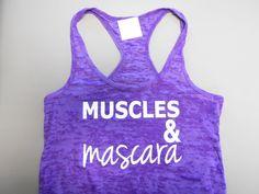 MusclesandMascara. Workout Tank Top Shirt. by StrongGirlClothing, $21.99