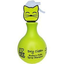 Pet Head Dry Clean Waterless Blueberry Shampoo Spray for Cats 15oz