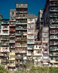 Image 1 of 10 from gallery of The Architecture of Kowloon Walled City: An Excerpt from 'City of Darkness Revisited'. Courtesy of 'City of Darkness Revisited' Kowloon Walled City, Hong Kong Architecture, Vertical City, Urban Life, Slums, Future City, Urban Photography, Art Plastique, Abandoned Places