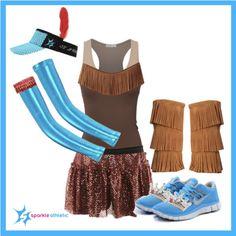 Pocahontas Running Costume | runDisney | Running | Race Costume | Disney | Sparkle Athletic | #TeamSparkle | Halloween | Athletic Costume | Princess
