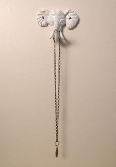 elephant wall hook. $14.00, via Etsy.
