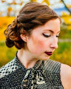 Idées Coupe cheveux Pour Femme  2017 / 2018   30 Updos créatifs pour les cheveux bouclés