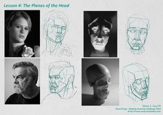 For the month of September I'm taking part in Pencil Kings Shading Drawing Challenge, with instruction from the lovely Diane Kraus. You can see Diane's work on her website www. Facial Proportions, Head Proportions, Pencil Shading Techniques, Drawing The Human Head, Planes Of The Face, Plane Drawing, Muscles Of The Face, Deviantart Drawings, Youtube Drawing