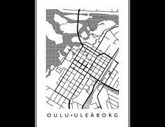 map-oulu-juliste Eminem Songs, Koti, Design Shop, Map, Architecture, Arquitetura, Location Map, Maps, Architecture Design