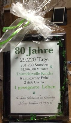 Geschenk zum 80 Geburtstag 80. Birthday Mehr