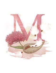 Letter M, Milkweed, Nature Theme Alphabet Art Decor x 11 Alphabet Art, Alphabet And Numbers, Letter Art, Alphabet Soup, Capas Kindle, M Wallpaper, Sparkle Wallpaper, Custom Writing, Quilling Patterns