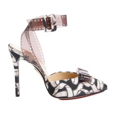 Charlotte Olympia Blockbuster Premiere printed satin and PVC sandals, $845 at Moda Operandi - The Cut