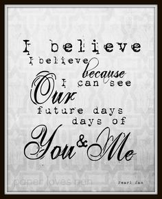 Pearl Jam Future Days lyric Art Quote 8X10 by paperlovespen, $15.00