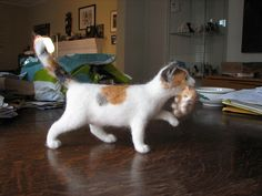 Best Needle Felted Cat I've seen so far. By Helen Rogers