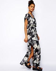 River Island Floral Print Maxi Dress