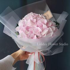 심플한 수국꽃다발 남자친구 꽃선물 추천 by Liziday : 네이버 블로그