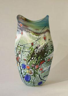 Love the colors. Ceramic Pottery, Ceramic Art, Mosaic Glass, Glass Art, Contemporary Ceramics, Contemporary Art, Keramik Vase, Art Object, Glass Design
