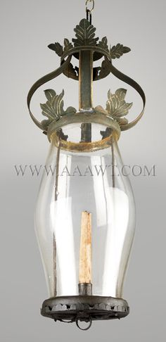 Hanging Candle Lantern  New England  Circa 1800-1830