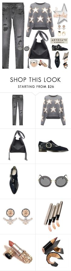 """""""The Stars Are Out Tonight"""" by jacque-reid ❤ liked on Polyvore featuring True Religion, Delpozo, Miu Miu, Henri Bendel, By Terry, Bobbi Brown Cosmetics, Christian Dior and RetroSpect"""