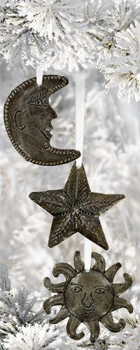 Haitian Folk Art Celestial Ornaments - Set of 3 at The Hunger Site