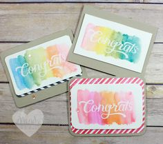 Stampin' UP! 2017 Occasions Catalog Sneak Peek featuring watercolor pencils and Double Take stamp set. Wendy Cranford www.luvinstampin.com