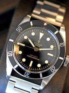Photo Report: A Quick Look At The Unique Tudor Heritage Black Bay . Stylish Watches, Luxury Watches, Cool Watches, Rolex Watches, Watches For Men, Unique Watches, Latest Watches, Popular Watches, Dream Watches