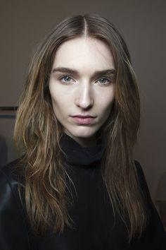 Textured hair at Damir Doma Fall 2014  - Runway Beauty at Paris Fashion Week #PFW