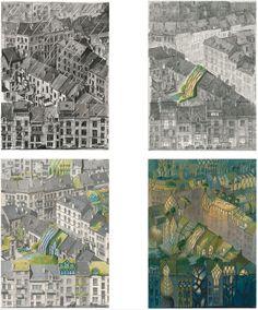 Schuiten artwork, greening the city - Vegetal city