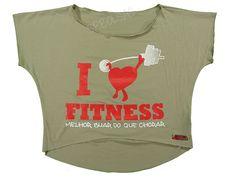 Blusas Femininas | Blusa Cropped I Love Fitness Melhor Suar Que Chorar Bege  Acesse: http://www.spbolsas.com.br/atacado/ #Regatas #Femininas #Atacado