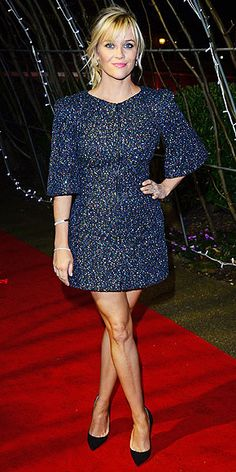 Reese Witherspoon in the sequined mini of your date night dreams.