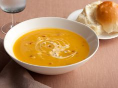 Butternut Squash Soup with Chipotle Cream.
