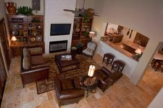Texas Tuscan Living Room - Mediterranean - Living Room - other metro - by Finishing Touches Interior Design