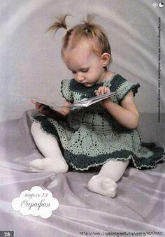 Uncinetto d'oro: Bellisismo prendisole per piccola principessa!