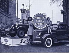 Vintage Motor City! Nothing Stops Detroit!