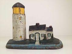 Antique Cast Iron Lighthouse Doorstop | eBay