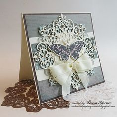 Victorian Paper Queen: Victorian Butterfly card