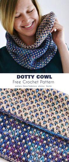 Dotty Cowl Free Crochet Pattern