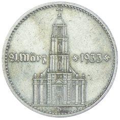 2 Reichsmark Garnisonskirche mit Datum 1934 D Drittes Reich Drittes Reich 1933 - 1945