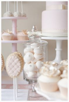 Fill one of the candy jars with meringue!
