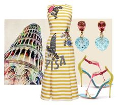 """""""Pisa"""" by engleann ❤ liked on Polyvore featuring Dolce&Gabbana and Christian Louboutin"""