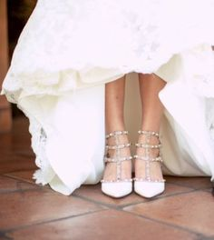 Wedding shoes idea; Featured Photographer: Once Like A Spark