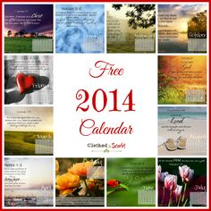 Free 2014 Calendar   Clothed In Scarlet
