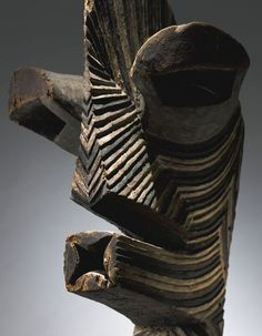 MONUMENTAL SONGYE KIFWEBE MASK, DEMOCRATIC REPUBLIC OF THE CONGO Height: 28 in (71.1 cm) From the Allan Stone Collection - sold at Sotheby´s May 2014