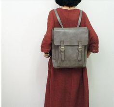 Handmade Women's Backpack Women Travel Bag Leather by BunnysGoods, $139.00 (EXcept in brown leather)