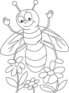 * Jasmine or Lavender, honeybee everywhere coloring pages
