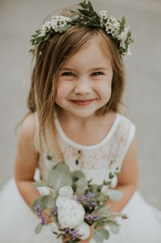 Casablanca Bridal | Photography by Sarah Brookhart Photography | Adorable Flower Girl | Flower Crown