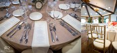 Wedding Reception Details Saratoga National © Matt Ramos Photography
