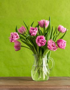Check out Still life with colorful tulips by Lorena on Creative Market