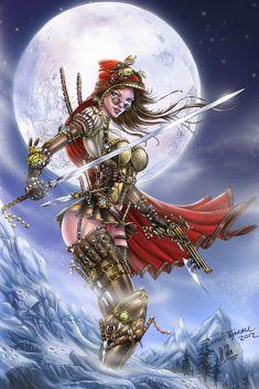 Steampunk Red Riding Hood, J. Tyndall by sinhalite on deviantART