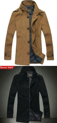 Fashion Leisure Collar Wool Coat Color classification: Yellow,Black. The collar: No hat stand. Men - length: In the long section (wear long clothing in the mid thigh above, below the hip). Size: M (Ying Lun),L (Fashion),XL (up),XXL (explosive sell). After you choose the color,check the second left picture.. #Wedone #Apparel | Raddest Men's Fashion Looks On The Internet: http://www.raddestlooks.org