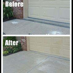 """This concrete driveway here in Omaha had sunk  over 2"""" in one corner and over 1"""" along the rest of the edge abutting the garage.  We were called in to fix the problem, and this concrete leveling and lifting project turned out great! We raised the driveway to a consistent height the entire width of the driveway.  If your concrete needs help, don't hesitate to call us at 402.619.6116 or visit our website at myconcretemedic.com."""