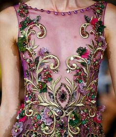 New Ideas Embroidery Fashion Detail Beadwork Embroidery Fashion, Beaded Embroidery, Nagel Blog, Creative Textiles, Fashion Details, Fashion Design, Lesage, Georges Hobeika, Bustier