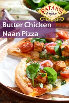 Mix in a little India – With Patak's Butter Chicken Naan Pizza Butter Chicken Pizza, Naan Pizza, Bacon In The Oven, Sugar Cookies Recipe, Indian Food Recipes, Chicken Recipes, Food And Drink, Cooking Recipes, Yummy Food