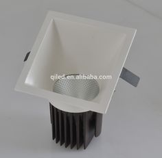 white slope housing fixed 12w cob led downlight square dimmable fixed 840lm fixed cob led lamp recessed anti-glare cob fixed led